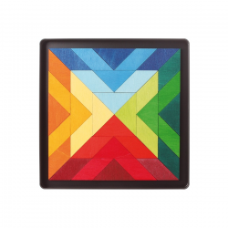 Square Indian, puzzle magnetic