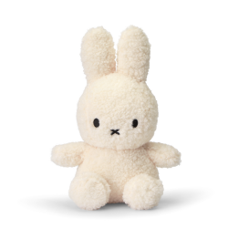 Iepurasul eco Miffy Crem, jucarie de plus 100% din PET reciclat - 23 cm