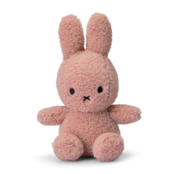 Iepurasul eco Miffy Roz, jucarie de plus 100% din PET reciclat - 23 cm